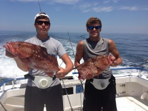 One and a half fish caught off Panama City Beach FL