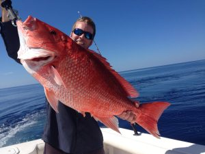 Man holding Beautiful Red Snapper